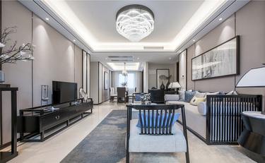 220平锦绣城新中式风格-超有温度的高品质生活!-锦绣城小区220平米5室新中式装修案例