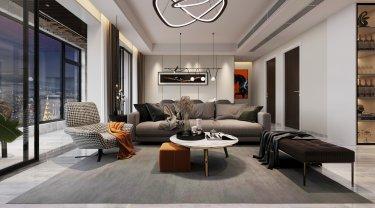 135平汀海一品现代风格-【迈里姆德PLUS】横厅时代的轻奢空间