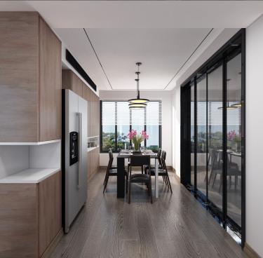 137平招商雍和苑现代风格-现代黑白-招商雍和苑小区137平米4室现代装修案例