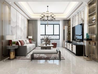 119平3室新中式客厅