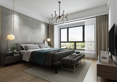 142平狮山原著现代风格-轻奢演绎舒适生活-狮山原著小区142平米4室现代装修案例