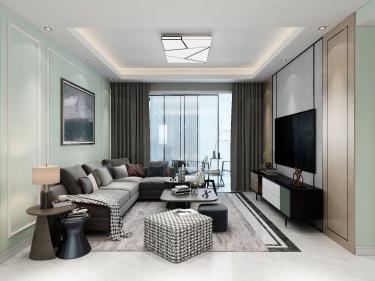 120平蓝光雍金现代风格-新家如此设计的现代简约风,老板看了都想给我换房子!
