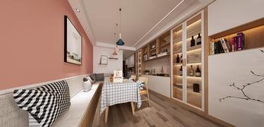 125平时代清江北欧风格-上中顺北欧原木风-时代清江小区125平米3室北欧装修案例