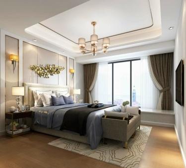 128平狮山原著现代风格-现代轻奢要的就是这个调-狮山原著小区128平米4室现代装修案例