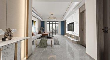 160平蔚蓝海岸现代风格-都市新贵住宅