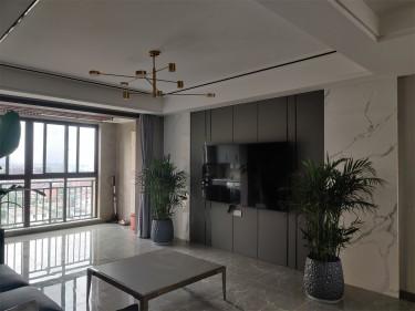 140平景范康城现代风格-景范康城小区140平米4室现代装修案例