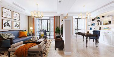 168平中央城美式风格-联动空间