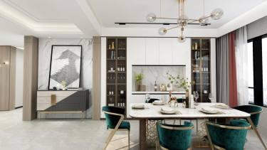 202美的翰城三期现代风格-美的翰城三期小区202平米5室现代装修案例
