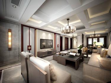 190平龙湖九墅新中式风格-传统的内涵4居室案例