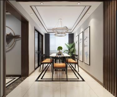 150平绿茵家园新中式风格