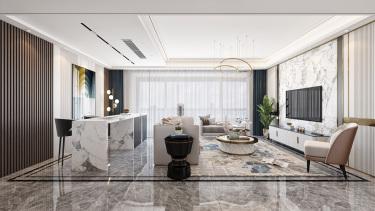160平富力院士庭现代风格-自然·舒心