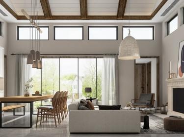136平十里江南中式风格-温润木质,营造治愈而优雅的灵魂居所