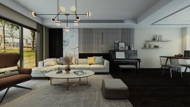300平静安府现代风格-大气下叠家居设计