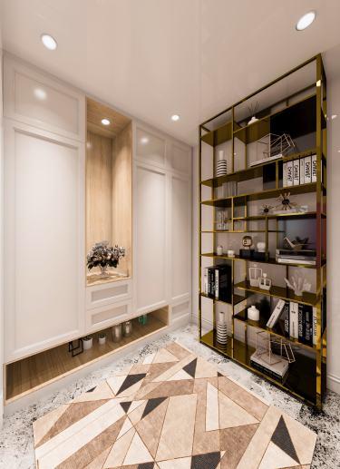 140平金辉海上铭著简欧风格-优雅美宅-金辉海上铭著小区140平米3室简欧装修案例