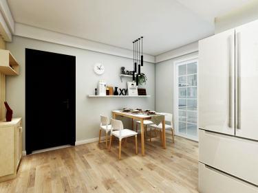 123平亿通壹世界北欧风格-忆通壹世界小区123平米3室北欧装修案例