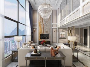 300平东湖林语美式风格-精致生活样板-东湖林语小区300平米跃层/复式美式装修案例