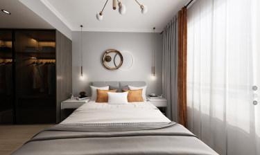 117平3室现代卧室