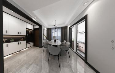 117平3室现代餐厅