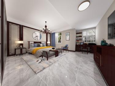 224平别墅新中式卧室
