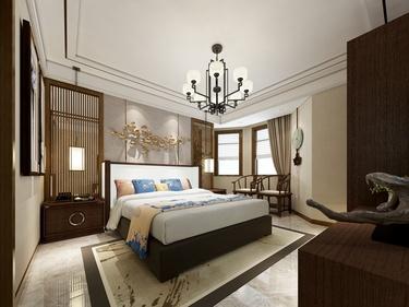 160平上海公馆新中式风格-上海公馆小区160平米5室新中式装修案例