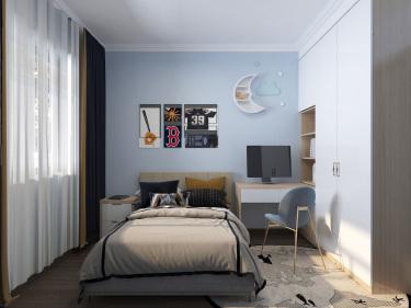 123平3室现代卧室