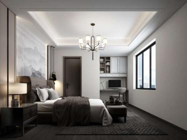 136平十里江南新中式风格-闲居雅趣-十里江南小区136平米3室新中式装修案例