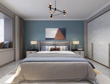 139平3室现代卧室