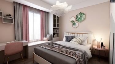 137平3室现代卧室