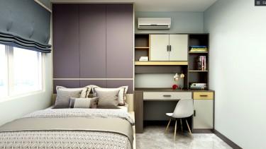 127平3室现代卧室