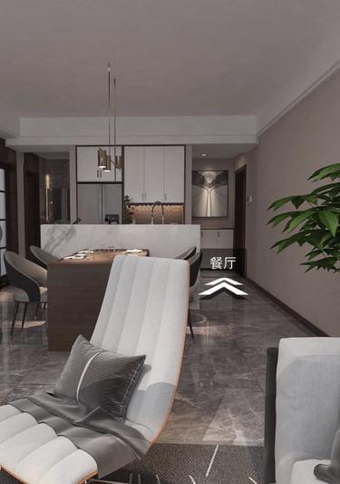 118平3室现代餐厅