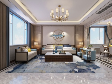 360平水城庄园新中式风格