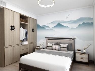 129平阳光小区新中式风格-有韵味的家