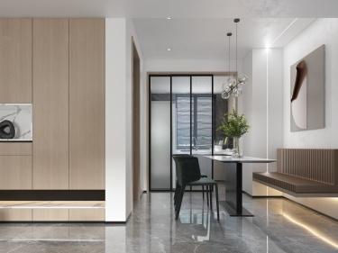 135平吴郡半岛现代风格-储物超强的家-吴郡半岛小区135平米4室现代装修案例