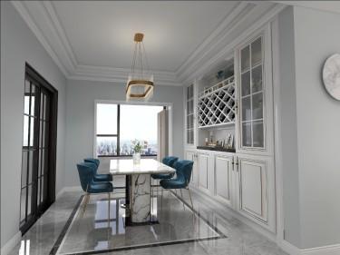150平海河湾简美风格-简单奢华-海河湾小区150平米4室简美装修案例