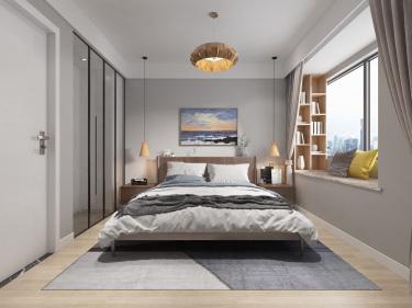 90平水岸清华北欧风格-雾霾蓝小三居-水岸清华小区90平米3室北欧装修案例