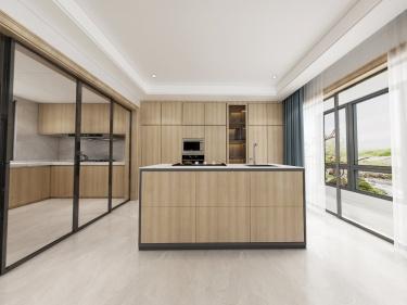420平岚山别墅新中式风格-禅动-岚山别墅小区420平米别墅新中式装修案例
