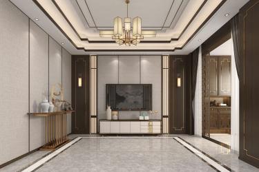 300平天然居新中式风格-骨子里的东方气质-天然居小区300平米别墅新中式装修案例