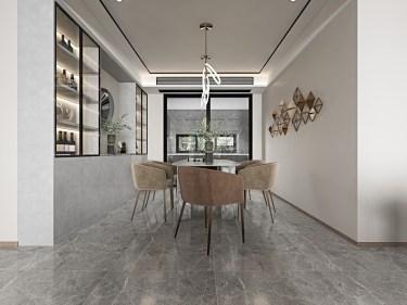150平保利香颂现代风格-现代轻奢风,高级而又个性-保利香颂小区150平米4室现代装修案例