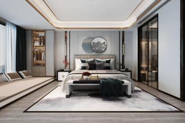 273平万亩新中式风格-万亩小区273平米别墅新中式装修案例