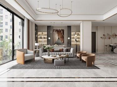 169平安展蔚然家园现代风格-阳光居所-安展蔚然家园小区169平米3室现代装修案例