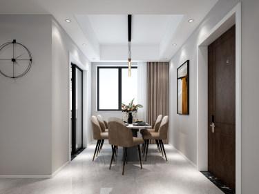 116平禹州嘉荟星岛现代风格-纯粹高级内敛-禹洲嘉荟星岛小区116平米4室现代装修案例