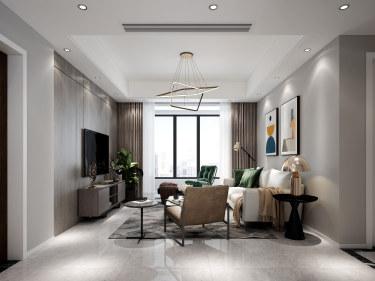 116平4室现代客厅