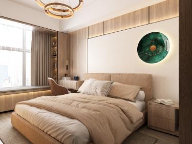 102平3室现代卧室