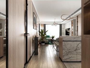 102平3室现代餐厅