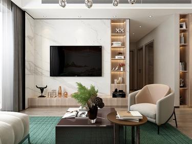102平3室现代客厅