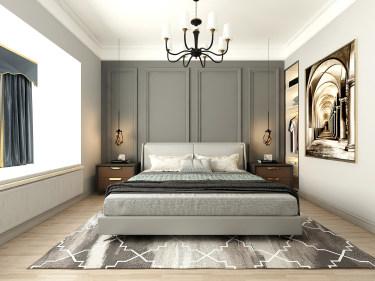 190平4室北欧卧室