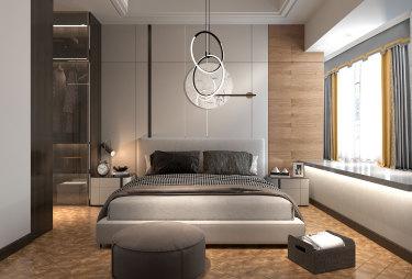 130平3室现代卧室
