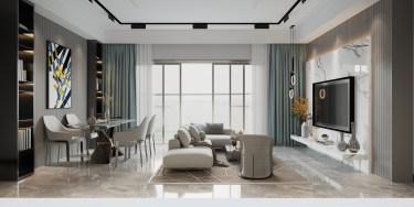 130平3室现代客厅