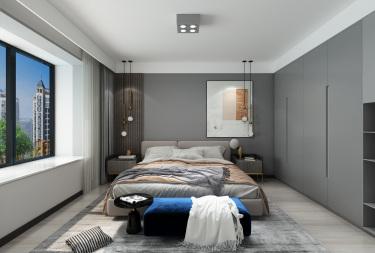 141平3室现代卧室