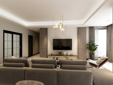 133平4室欧式客厅